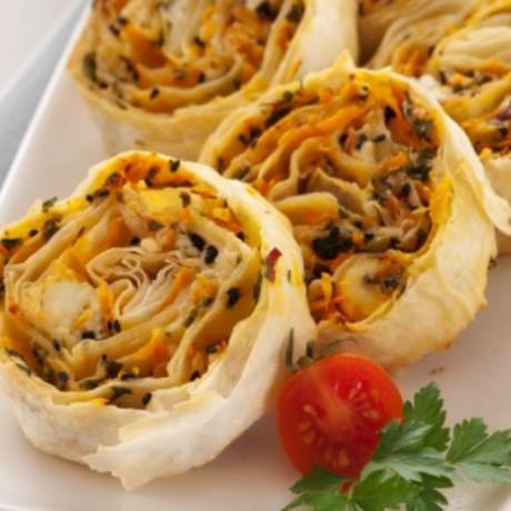 Havuçlu ve Peynirli Rulo Börek